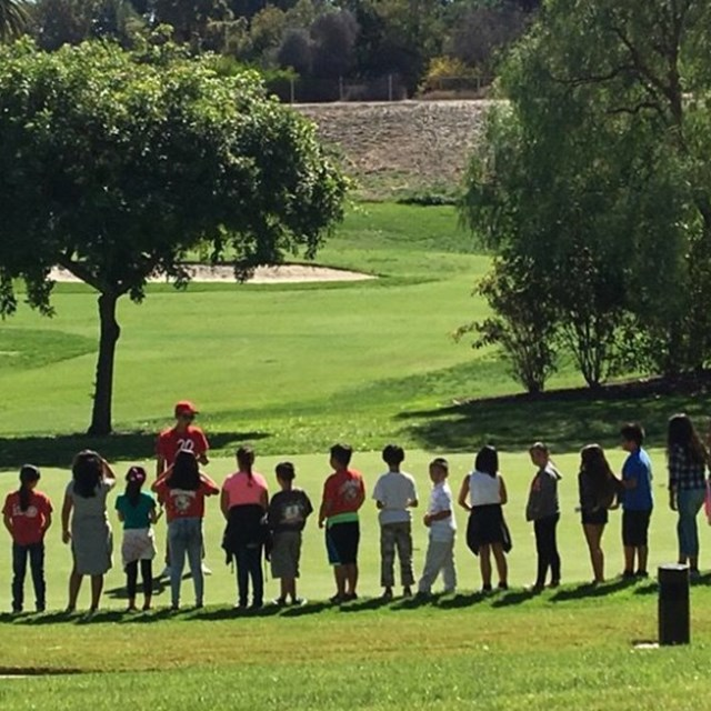 5th Graders visit the Tiger Woods learning center for a week long science academy and a quick golf lesson.