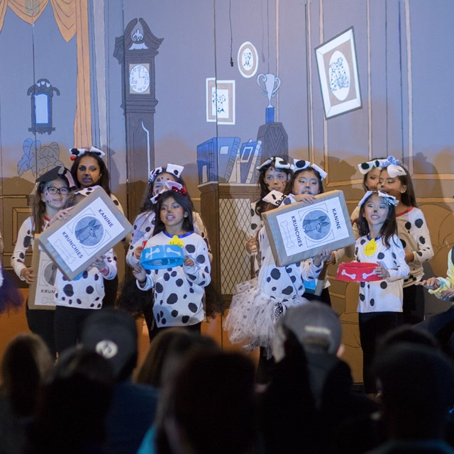 Stanley's Disney 101 Dalmatians for Kids gave students a chance to sing, dance, work the lights and the sounds board.