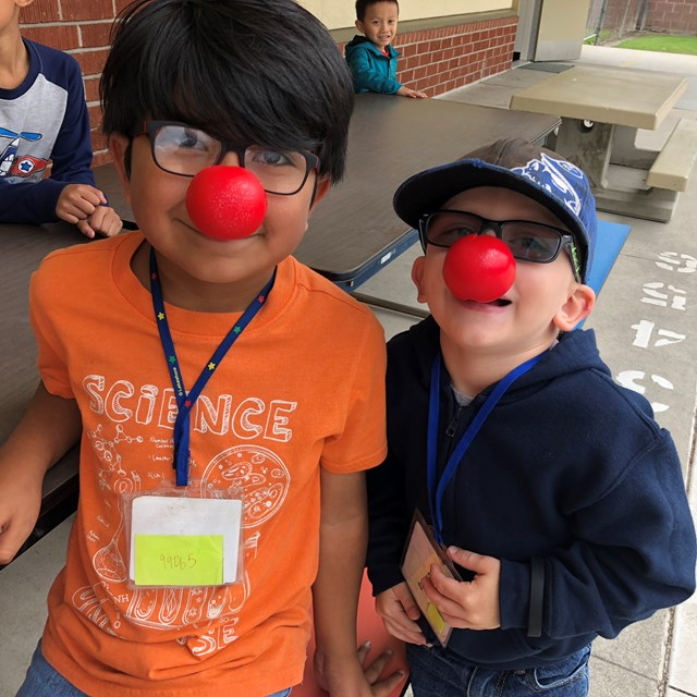 Students and staff participated in Red Nose Day in support of Comic Relief Inc.